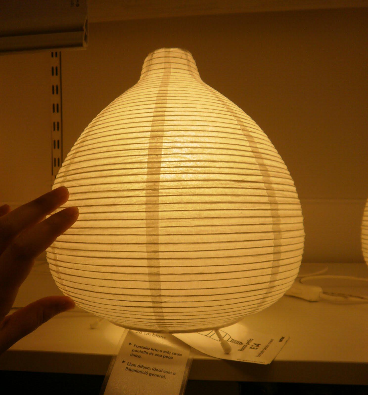 Lunaluz bazar lamparas de papel ikea cajas con diversos for Lampara blanca ikea