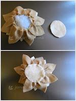 Tutorial Pincushion Bunga Teratai dari Flanel