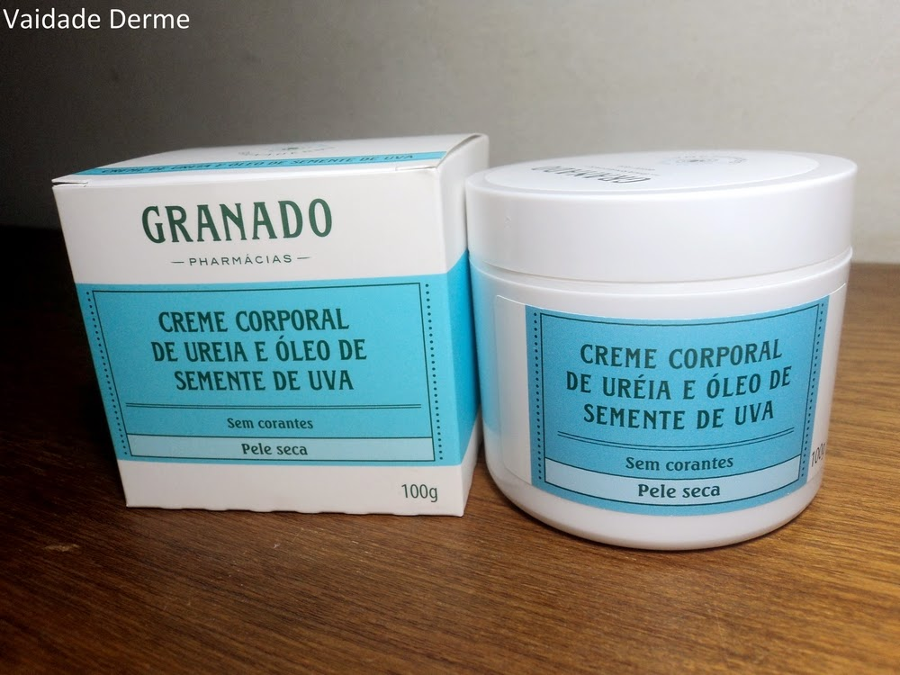 Granado Granaderma Creme Uréia e Óleo de Semente Uva
