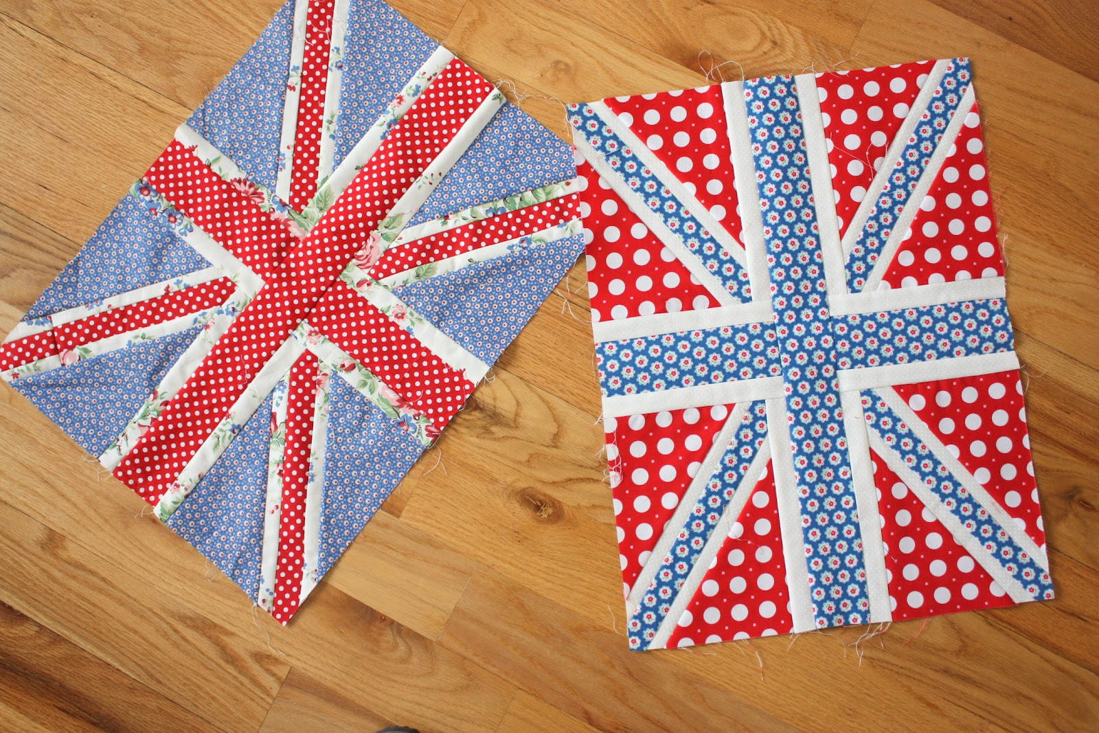 This year's crop of Union Jack quilt blocks - Diary of a Quilter ... : union jack quilt - Adamdwight.com