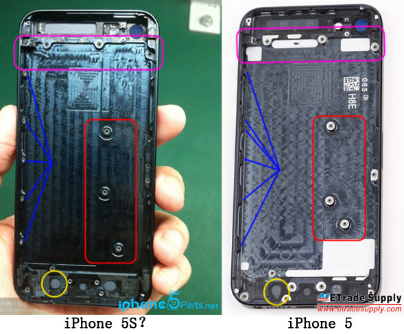 iPhone5S chases prototype photos 2013 hints internal Specs updates