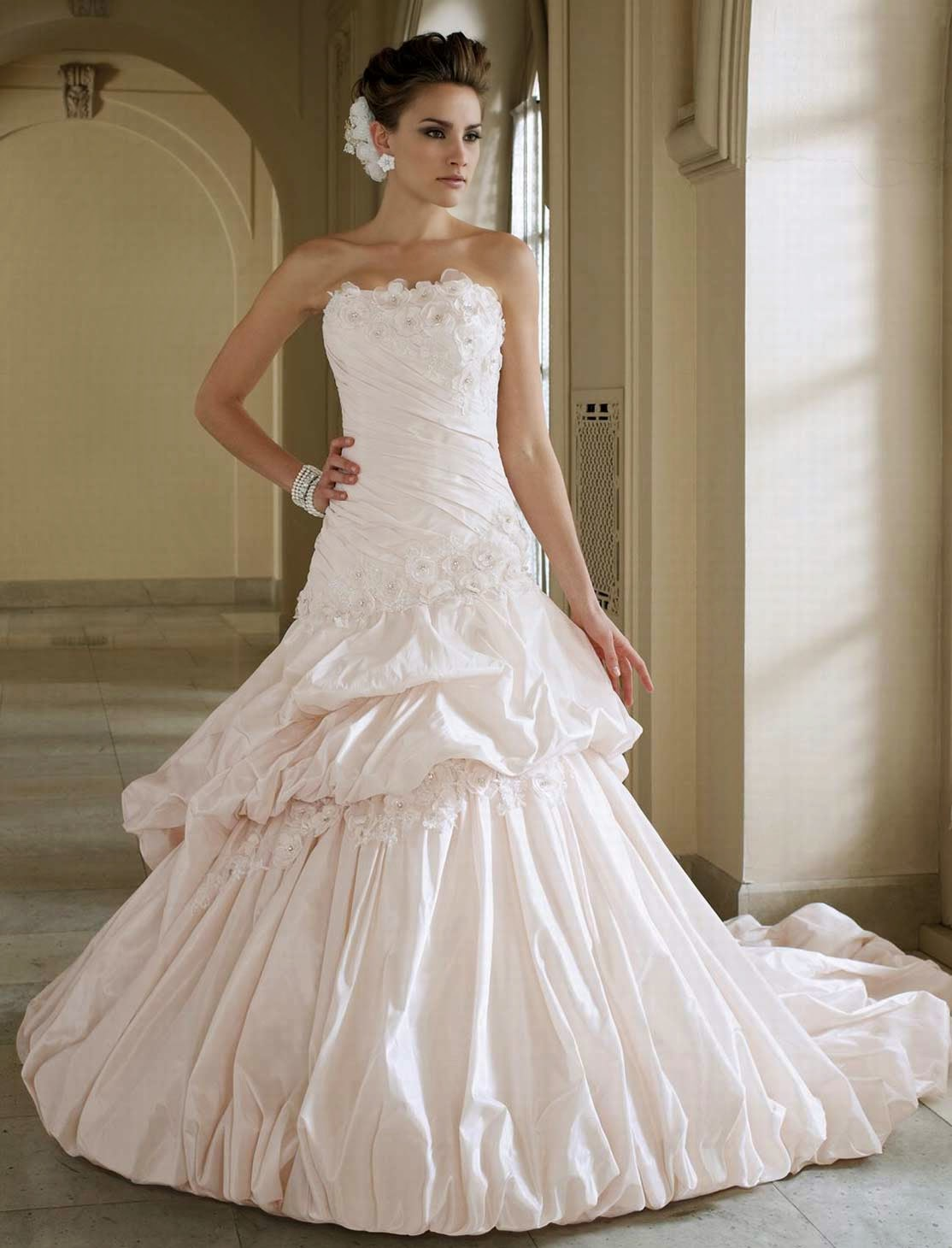 Expensive Best Wedding Dresses 2013 Long Trains Photos HD Design