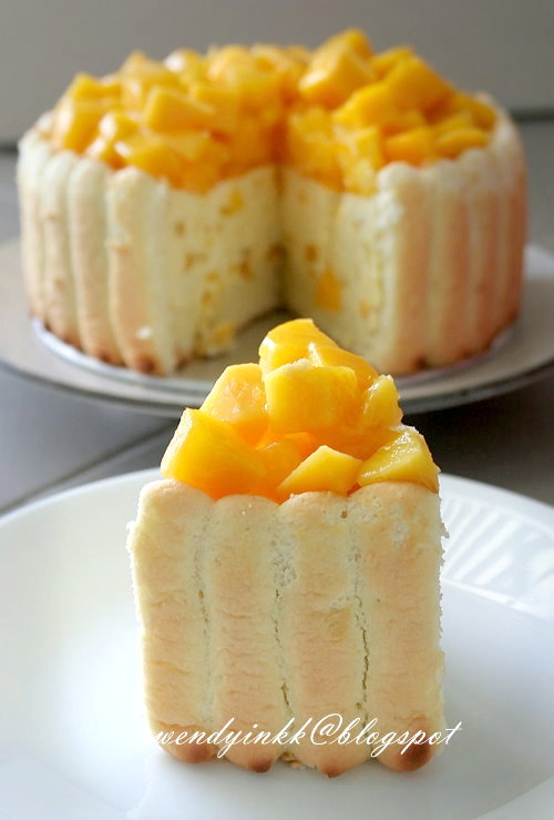 Table for 2 or more Mango Cheese Charlotte No Bake Cheesecake 3