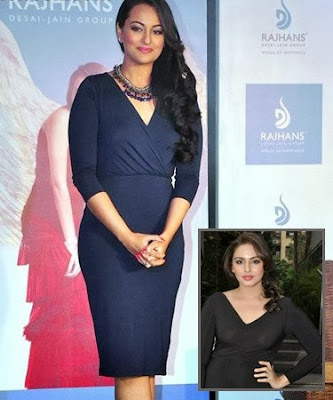 Sonakshi Sinha and Huma Qureshi wardrobe malfunction pics
