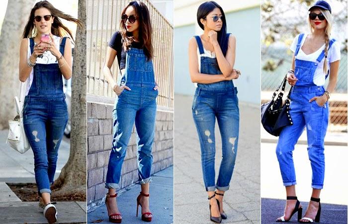 Passarinho na cartola looks com jardineira jeans for Jardineira jeans c a