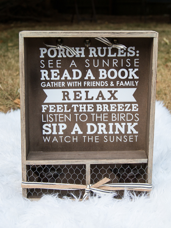 Porch Rules Distressed Drawer @craftsavvy #craftwarehouse #diy