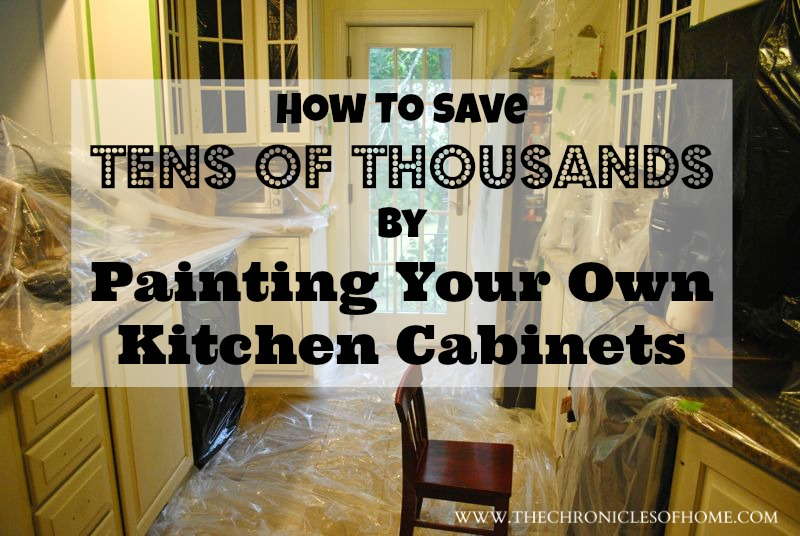 Tens Of Thousands Of Dollars By Painting Your Own Kitchen Cabinets