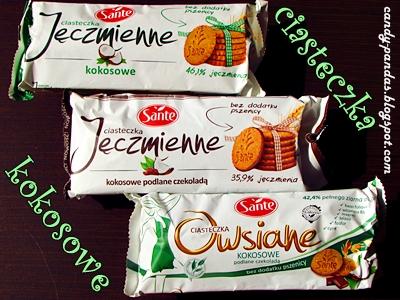 Ciasteczka kokosowe jęczmienne i owsiane - Sante