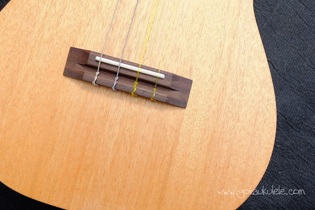 Pono MB-e Baritone ukulele bridge