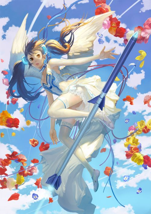 Toshiaki Takayama illustrations games animes fantasy sci-fi sensual japanese girls women Fantasy and flowers
