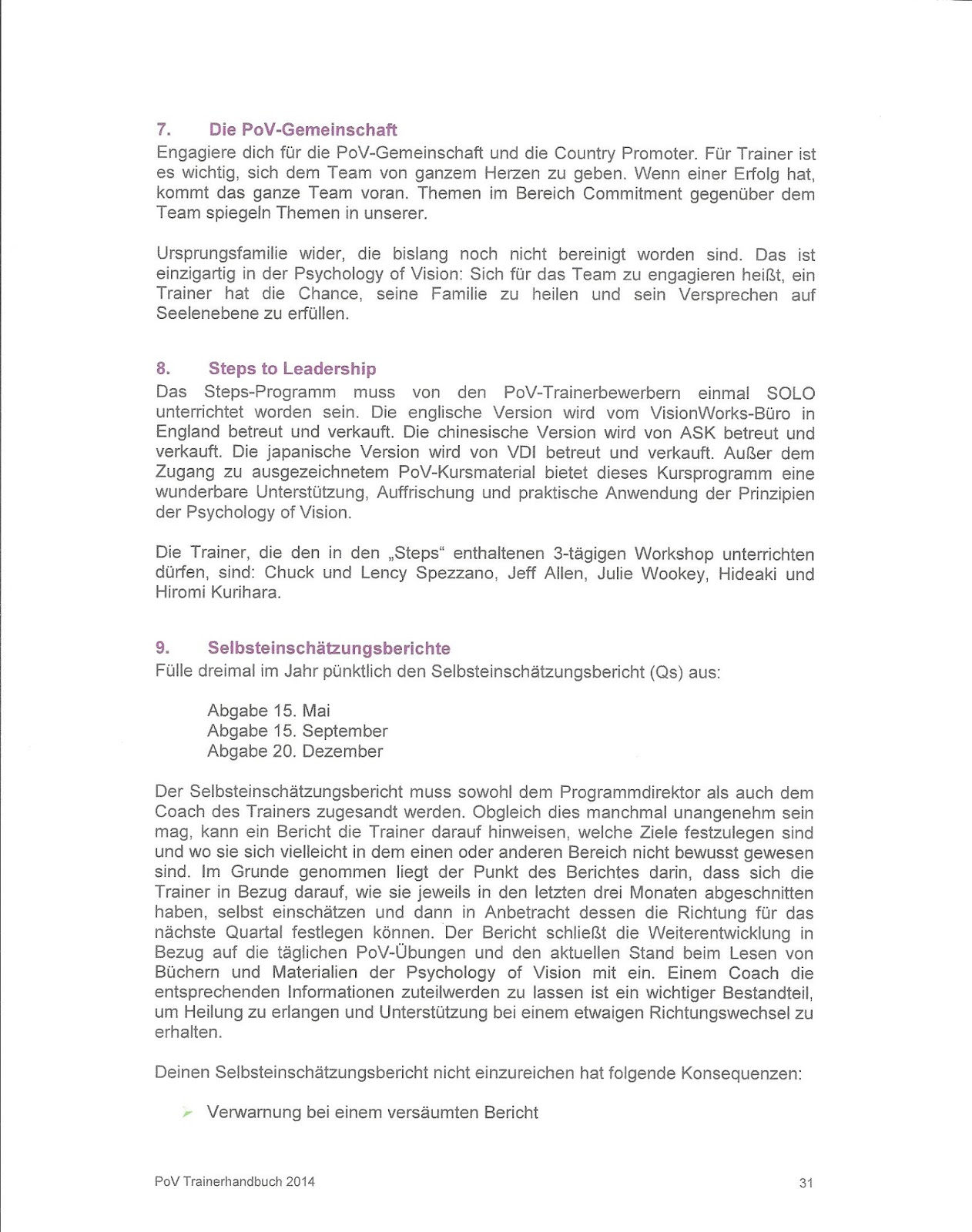 Documents About Spezzano and Associates Ltd. Psychology of Vision ...