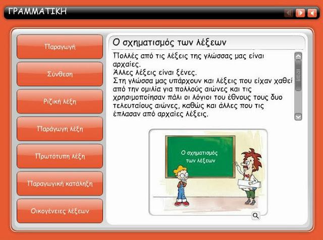 http://users.sch.gr/theoarvani/mathimata/diafora/grammatiki/8/engage.html