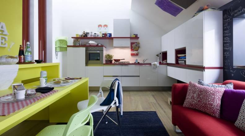 cucine soggiorno unico ambiente piccolo bagno piccolo arredare, Disegni interni