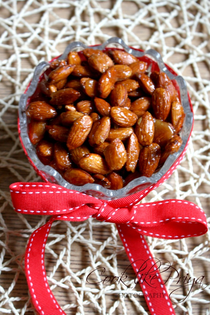 Candied Almonds | Roasted Almond Snack Recipe | Christmas Treats ...
