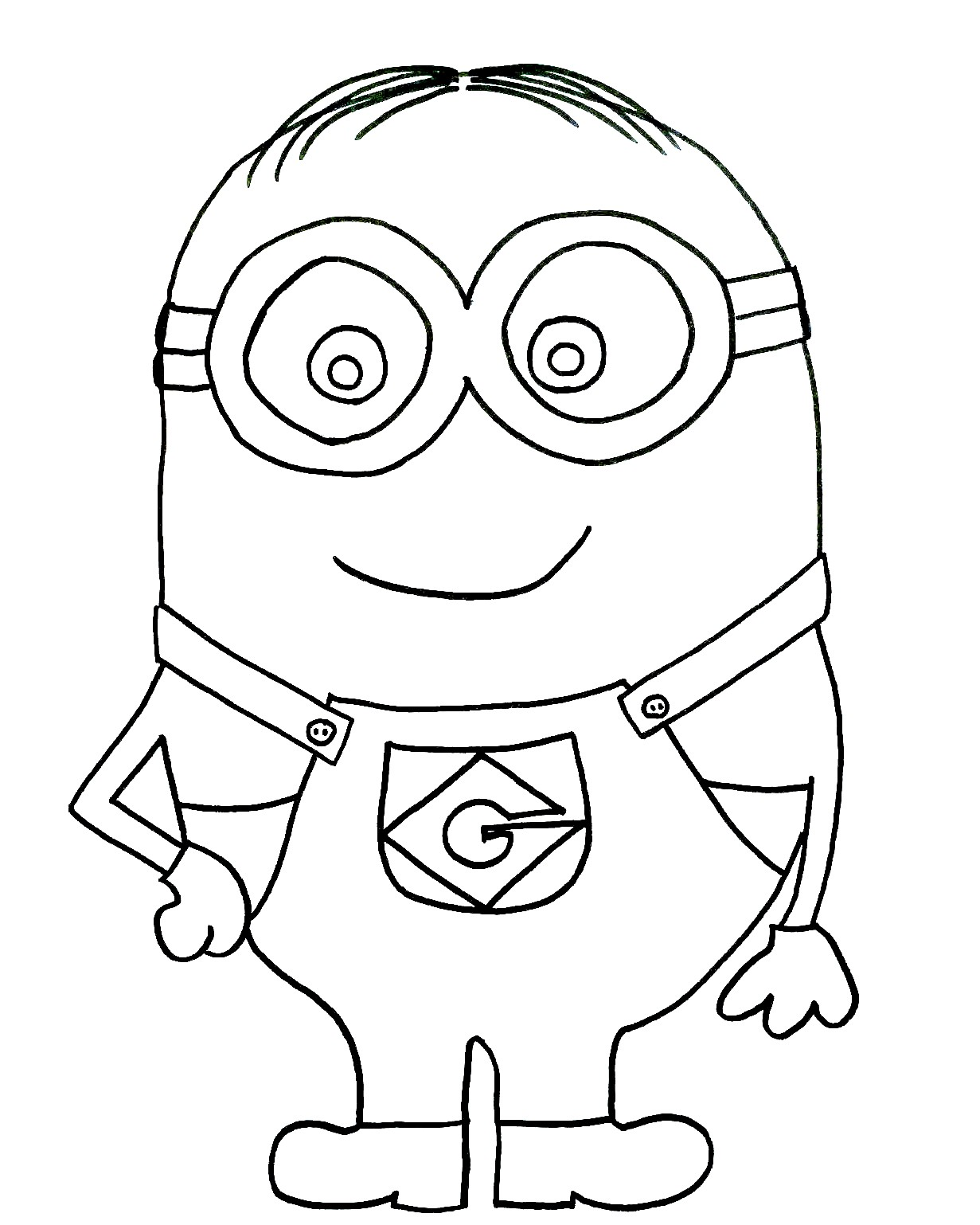 The art bug draw a minion step by step tutorial make for Minion coloring pages free