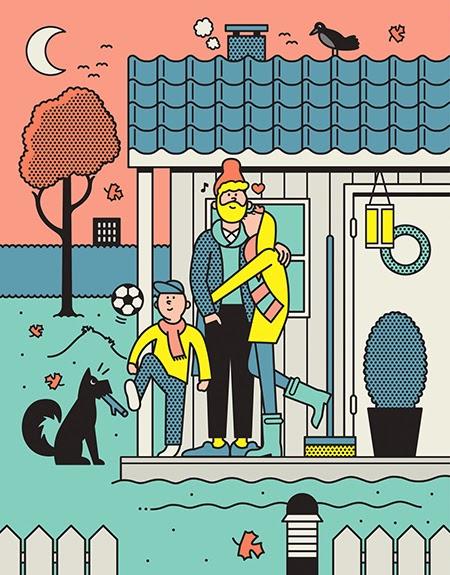 Las ilustraciones vectoriales de Rami Niemi