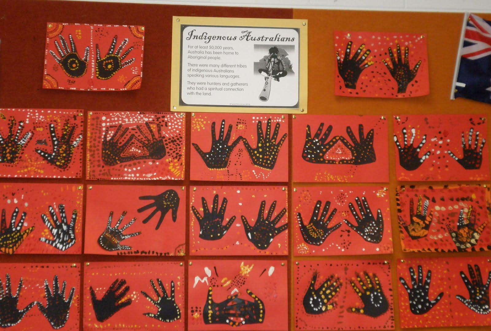 Art with mrs baker aboriginal hand print art year 3 paintings 2010 toneelgroepblik Image collections