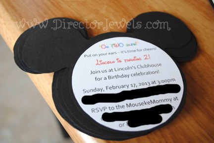 mickey mouse clubhouse diy birthday party invitations tutorial - 400×267