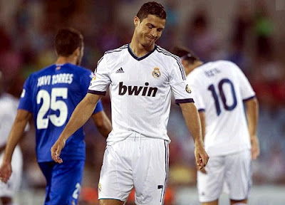 Cristiano Ronaldo upset at the final of the match against Getafe