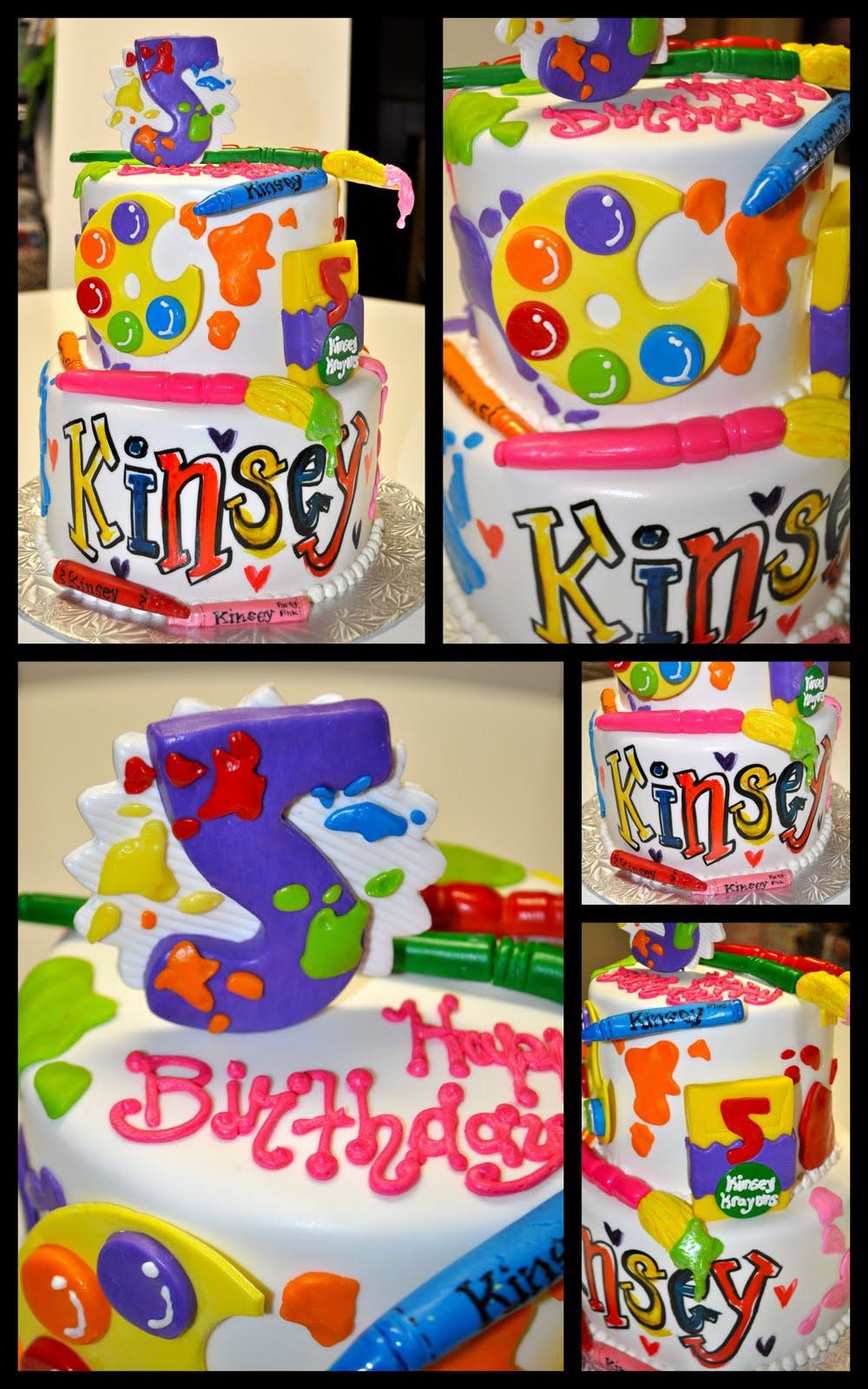 Leah s Sweet Treats: Art Party Cake
