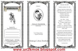 ... Undangan Khitan HVS Bagi 3 CDR Gratis | Download Template Undangan