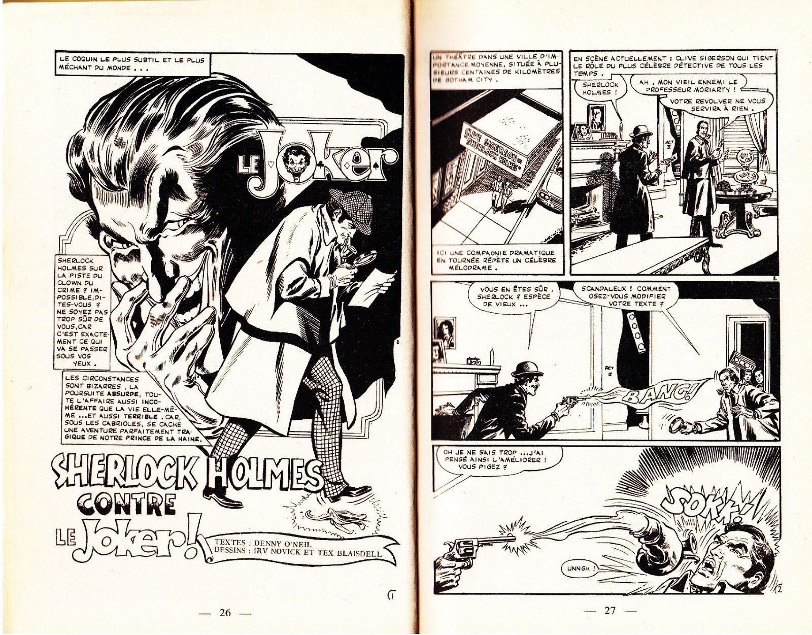 Sherlock comics chop batman contre moriarty et sherlock - Batman contre joker ...