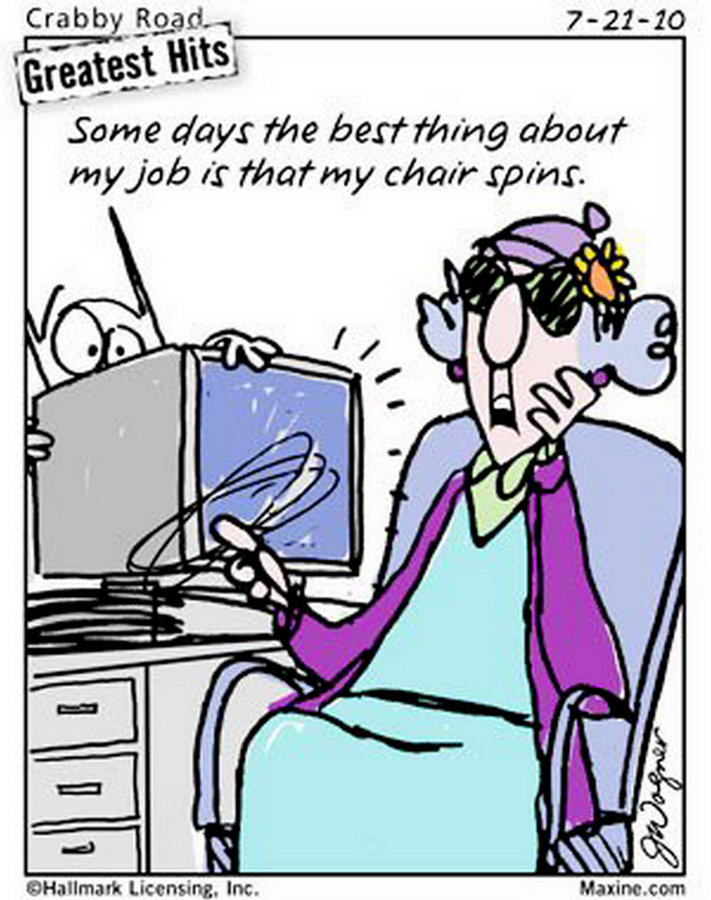 Maxine Cartoons on Aging Funny Maxine Cartoons