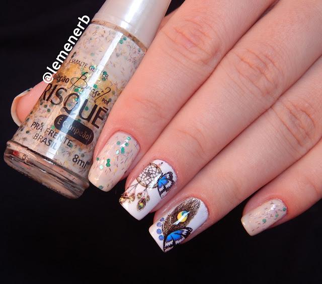nail art borboleta