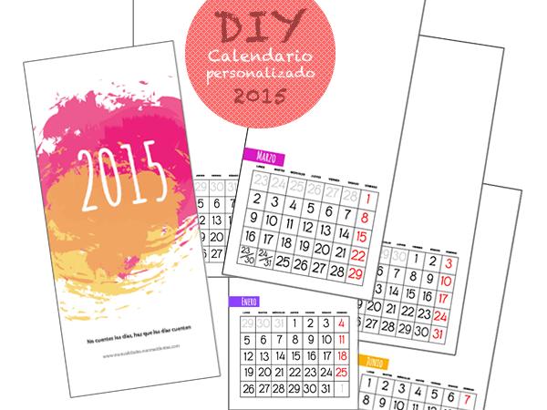 calendario 2015 para personalizar e imprimir