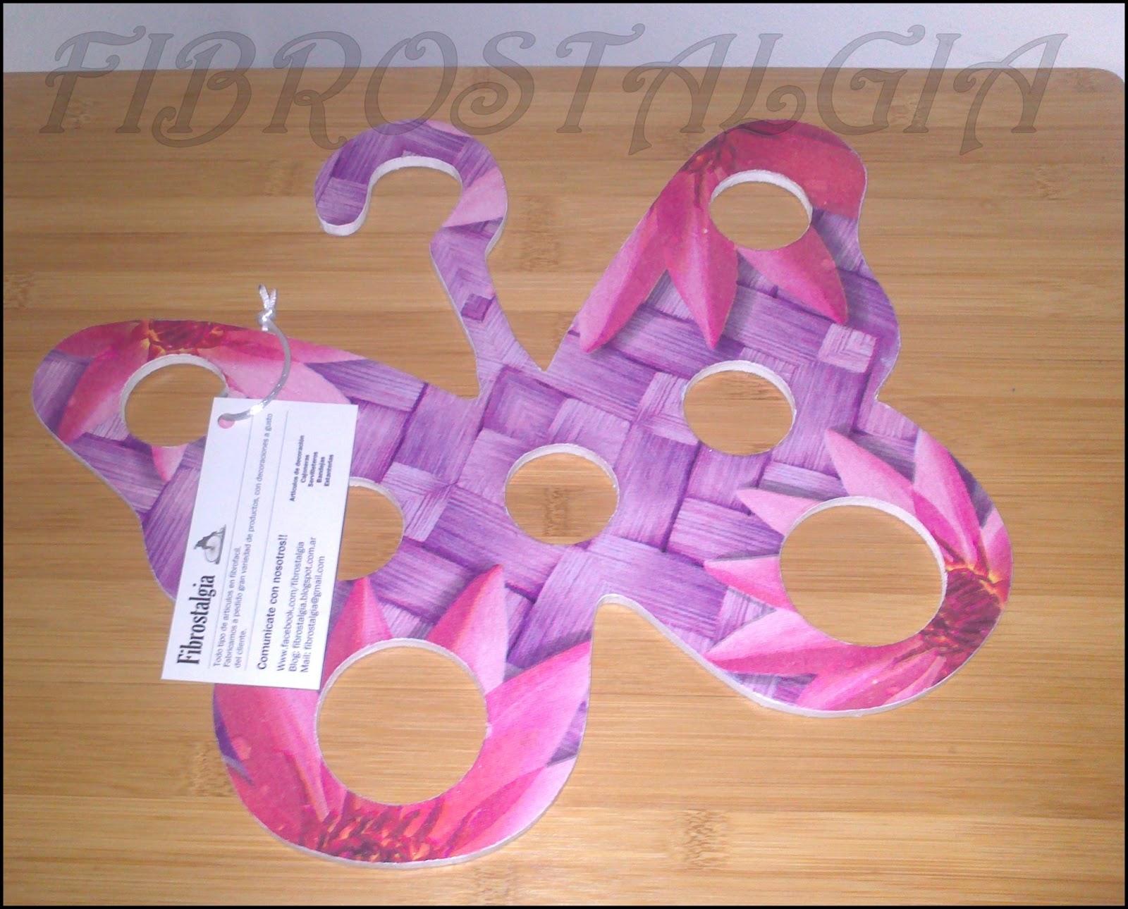 Articulos en fibrofacil porta aros percha mariposa - Percha para panuelos ...