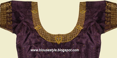 gold with purple blouse