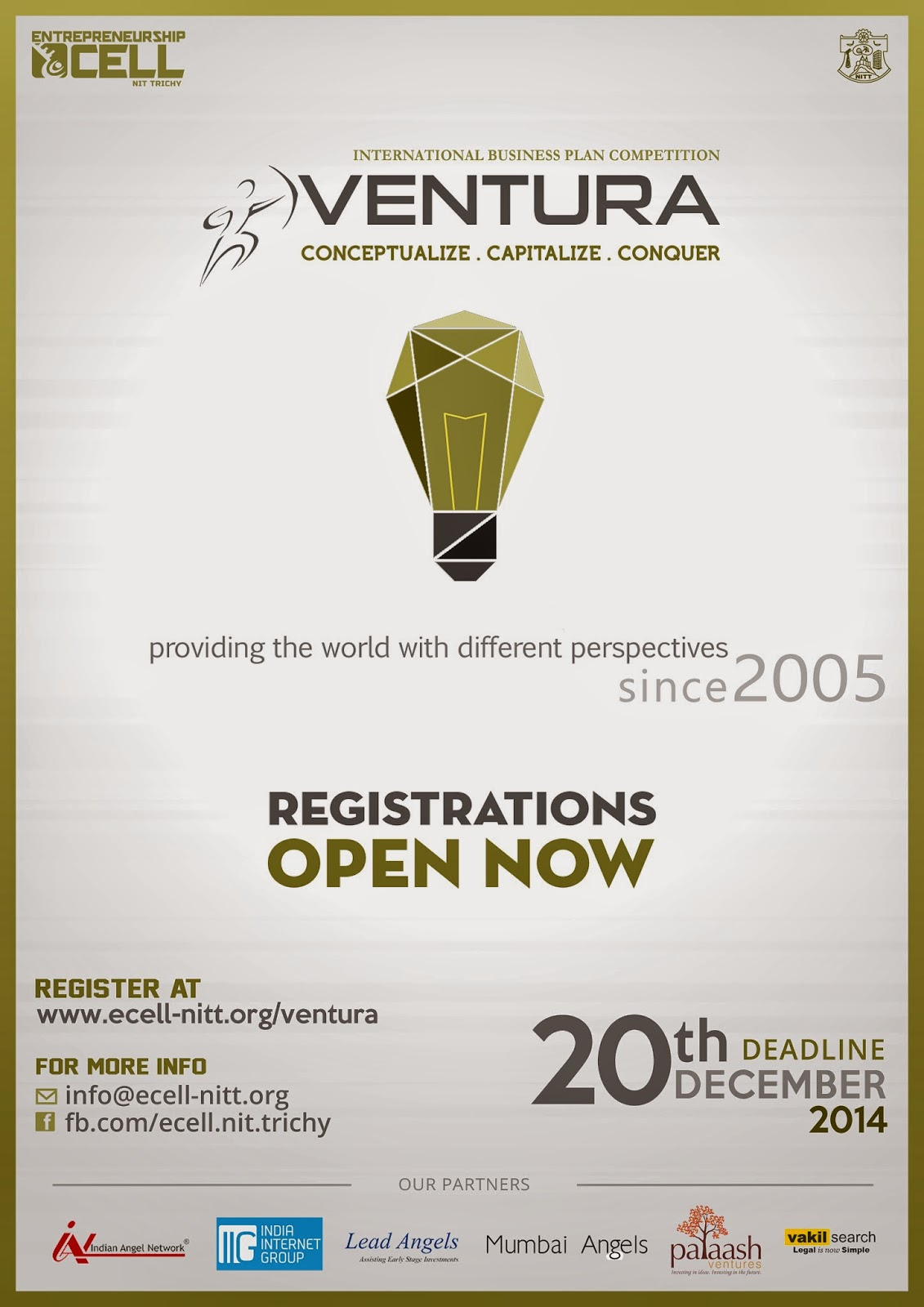 Ventura Is One Of The Most Impactful Business Idea Competitions In India  Teams Being Incubated For Over Rs  Crore