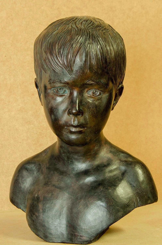 Retrato escultura barro cocido 10