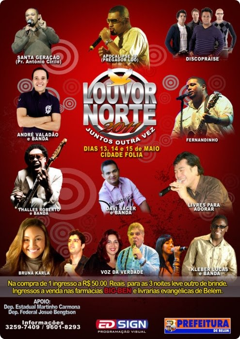Banner do Louvor Norte 2011 - Destra Fiel