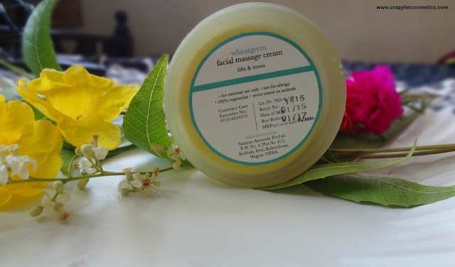 Revitalizing Massage Cream for face