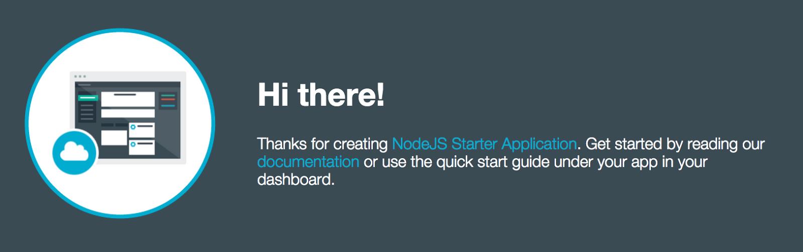 Screenshot of Node.js Starter App
