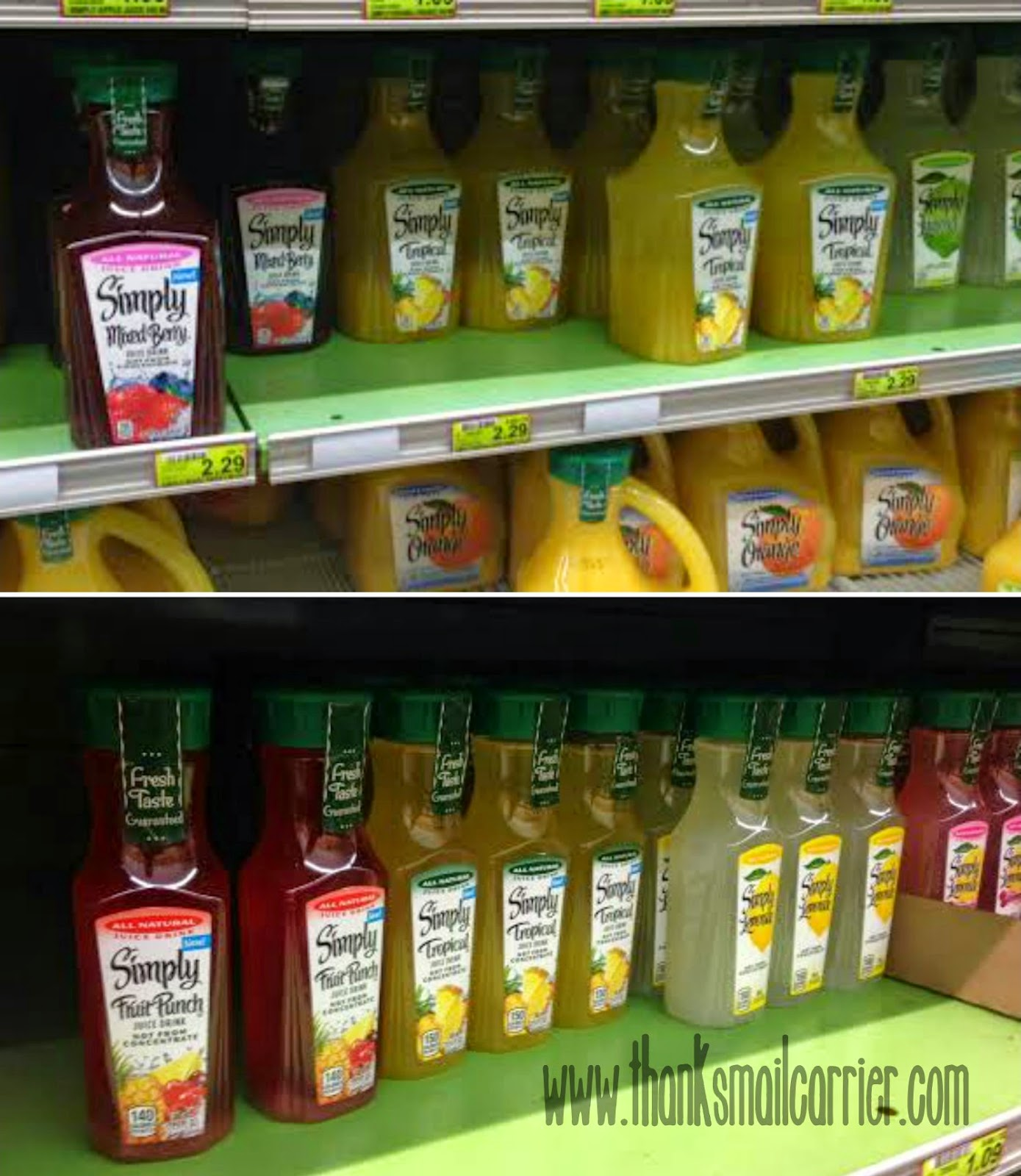 new Simply Juice Drinks