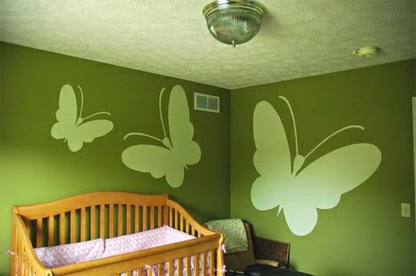 Cuartos de beb en color verde dormitorios colores y estilos for Disenos de paredes para dormitorios