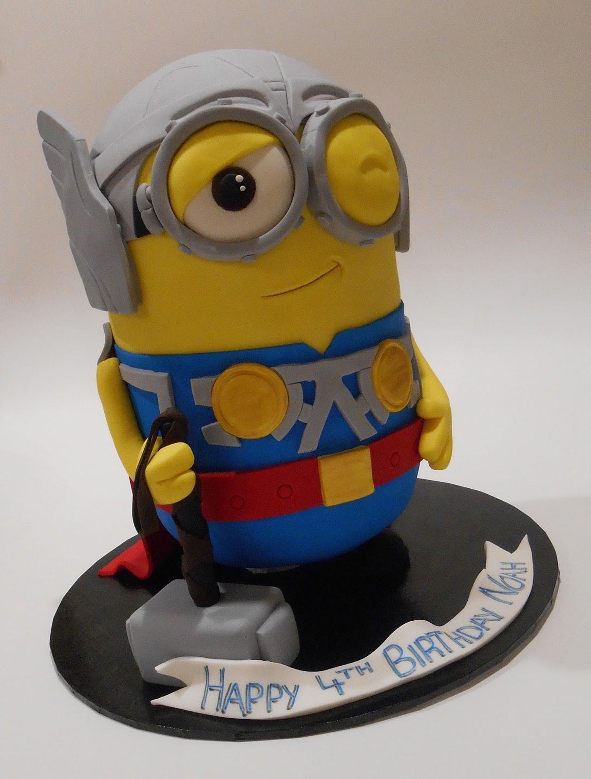 Nadas Cakes Minion Thor Birthday Cake By Nadas Cakes Canberra