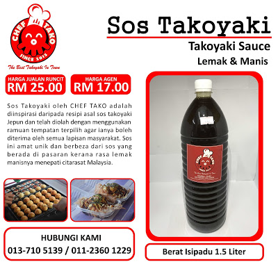 Sos Takoyaki Chef Tako