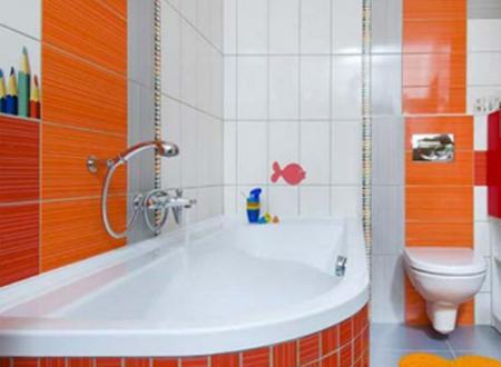 contoh perpaduan warna cat kamar mandi untuk membuat kamar