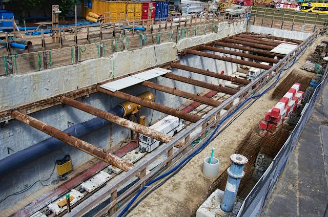 Baustelle Erweiterung der U-Bahn Line 5, Am Roten Rathaus, Rathausstraße, 10178 Berlin, 16.08.2013
