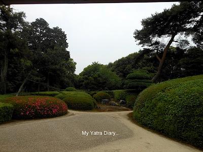The garden of the Jikoin Zen Temple, Nara - Japan