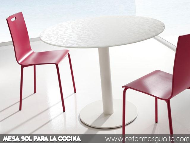 Mesa redonda para cocina dise os arquitect nicos for Sillas cocina blancas