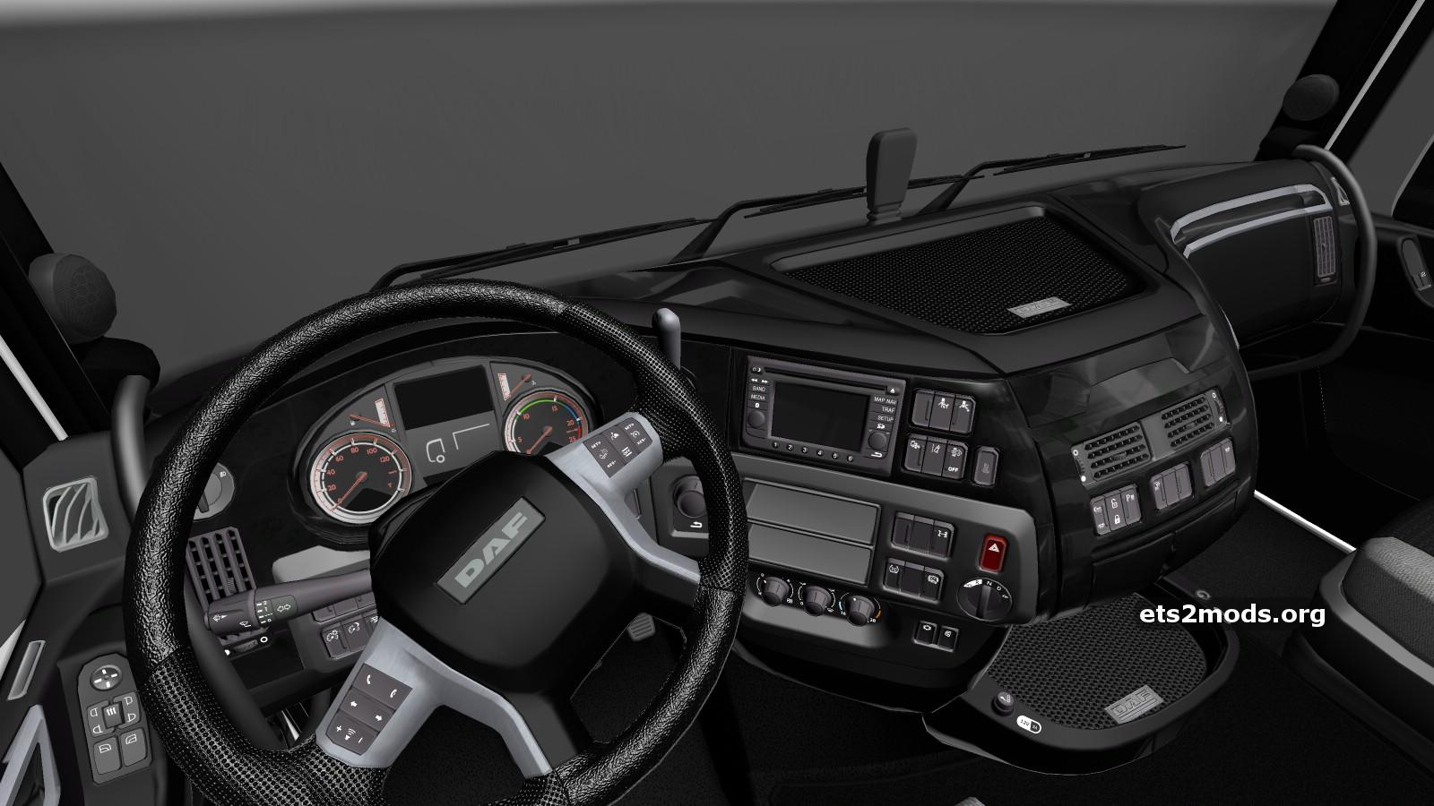 Black interior for daf euro 6 ets2 mods for Daf euro 6 interieur