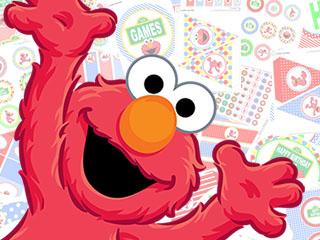 photo regarding Elmo Printable named Elmo Printable Birthday Bash KitCuties Events