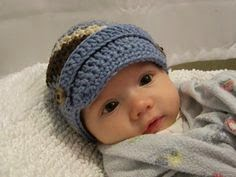 Crochet Baby Hat Pattern With Brim : Knotty Knotty Crochet: LIttle brimmed hat FREE PATTERN!