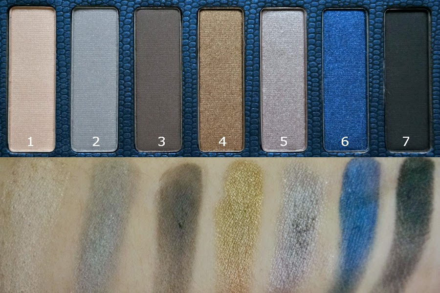 Swatches: Lorac Skinny Palette in Navy