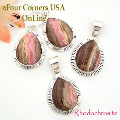 Chocolate Rhodochrosite Four Corners USA OnLine Native American Jewelry