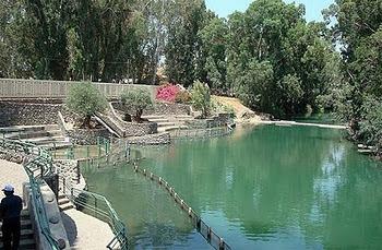 Rio Jordão, local onde Jesus foi batizado